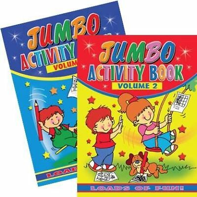 Jumbo Childrens Kids Activity Puzzle Colouring Fun Book Dot To Dot 1 & 2 Years