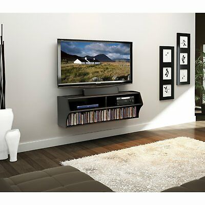 Wall Mounted Floating Tv Stand Center Console Modern Storage