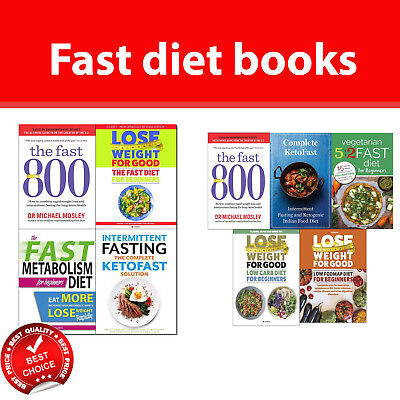 Fast Diet books collection set Fast 800, Fast Metabolism, Intermittent Fasting