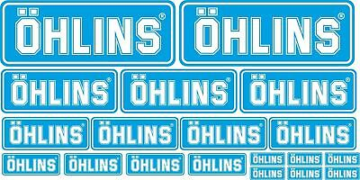 STICKER OHLINS MOTO DECAL SET KIT STICKER BIKE 19 pcs RACE MOTOGP WSBK SPONSOR
