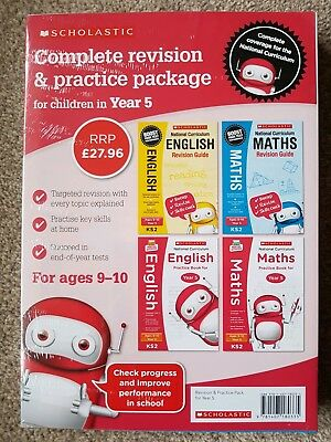 Scholastic Complete Revision & Practice Package 4 Book Set for Year 3,4,5 and 6