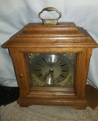 Beautiful D& A West Minister Shelf Mantle Clock w/Handle Tested