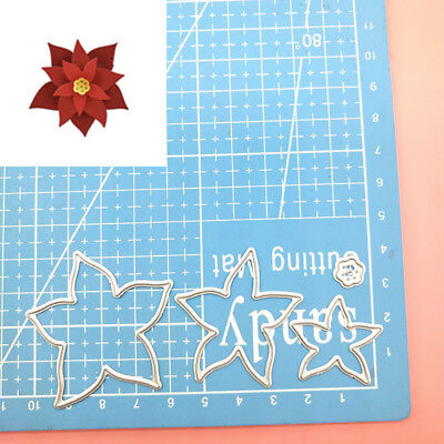 Cutting Die Merry Christmas Santa Rejoice Holly leaves Holiday Star Flower