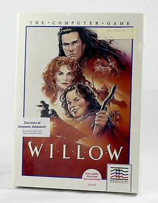 Vintage Big Box PC Sealed - Mindscape Willow ULTRA RARE SEALED Commodore 64