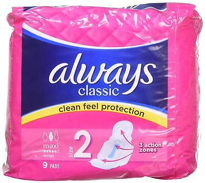 Always Classic Maxi Sanitary Pads With Wings (36Pads) pack of 4