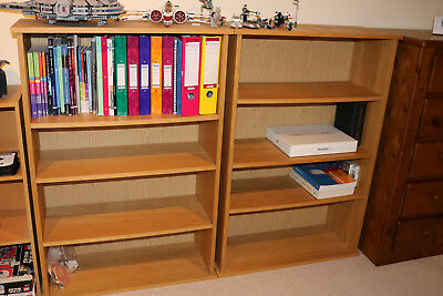 dd0c185e552f John Lewis matching pair of 2 open bookcases/shelving/storage units 80w x  116h