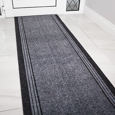 Best Non Slip Dirt Catcher Runners Custom Extra Long Hallway Runner Rug Grey UK