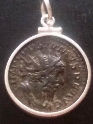 Postumus Mars AR Silver Coin Authentic Ancient Roman Sterling Pendant Necklace