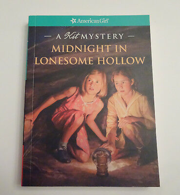 "American Girl KIT MYSTERY paperback ""MIDNIGHT IN LONESOME HOLLOW "" - NEW"
