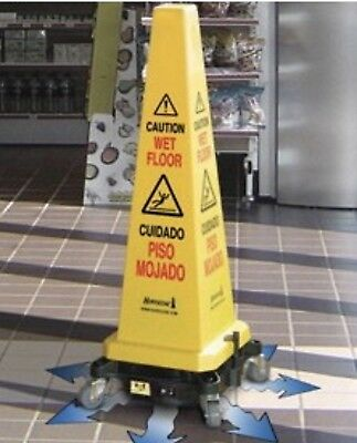 HURRICONE Battery Floor Dryer with Safety Cone attached - Yellow
