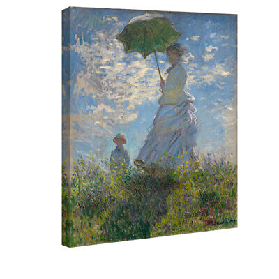 Canvas Wall Art Print Monet Painting Repro Home Decor Woman with a Parasol Pic