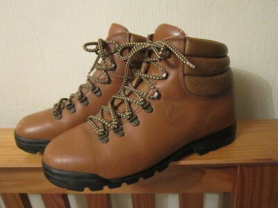 146013e52e2 TAN LEATHER LOVESON Hiking Walking Boots,With Vibram Sole Size 8 Uk 42 Eur