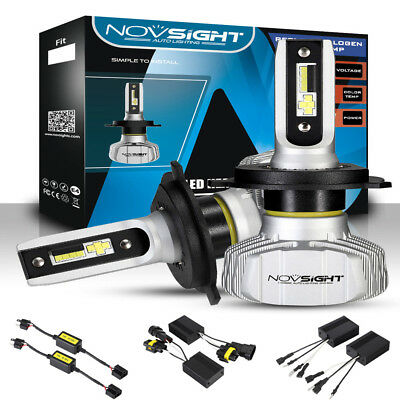 NOVSIGHT 2X LED Headlight Bulbs Conversion H1/H3/H4/H7/H11/H13/9006/9005 /9007