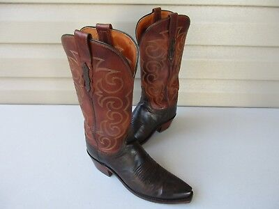 9a33dd64283 LUCCHESE 1883 WOMEN'S boots with turquoise stitching - size 8 C ...