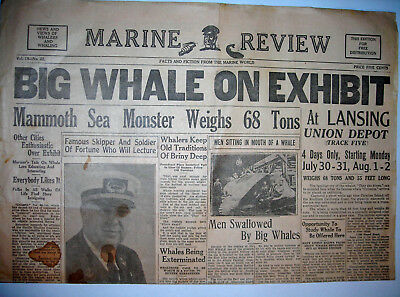Maritime Marine Review Whaler's Newspaper 1930's Vol. 18 No. 22 Facts & Fiction