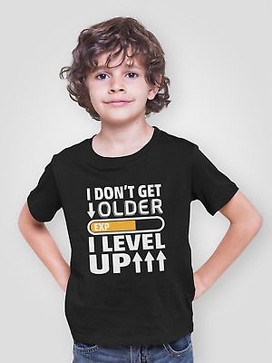 Gamers t shirt I Don't Get Older I Level Up Mens Tee Gaming Gift Top