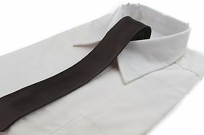 *CHEAP* 5CM MENS DARK BROWN TIE Necktie Neck Skinny Ties Wedding Races BARGAIN