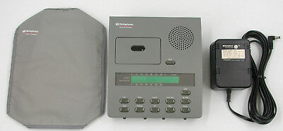 Dictaphone ExpressWriter 3750 Microcassette Dictator Transcriber w Power Supply