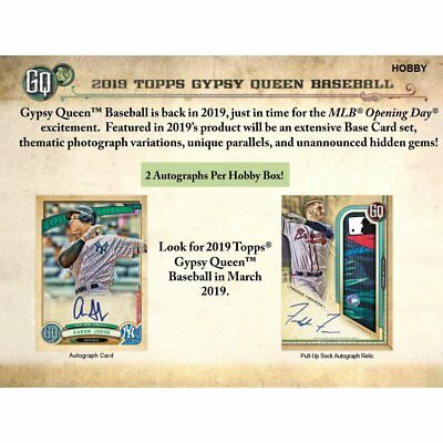 2019 Topps Gypsy Queen Baseball Sealed Hobby Box - Presell 3/27/18 Release Date