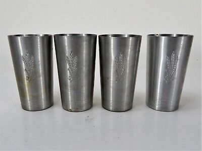 Vintage West Bend Aluminum Set of 4 Cup Tumblers Made in WI.USA