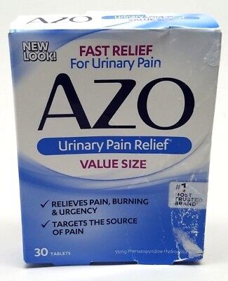 Azo, Standard Urinary Pain Relief Tablets, Analgesic - 30 Count EXP 05/20