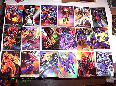1995 Marvel Flair Annual Powerblast Insert Chase 24 Card Set! Spiderman Deadpool