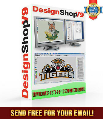 Melco Design Shop Pro9 plus Windows 7-8-10 32 or 64 bits send free for email!