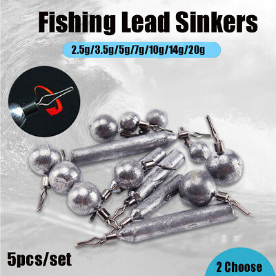 360 Degree Rotatable Finesse Lead Sinker Ball Bearing Drop Shot Fishing Tackle