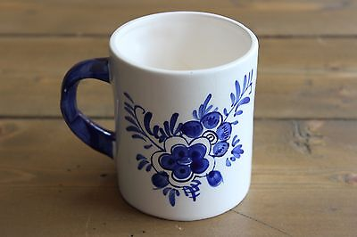 Delft Blue Hand Painted Mug, DAIC, Tulip Relief, Floral Design, Holland