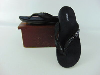 28b5026a3 SPEEDO Black Flip Flop Thong Sandals Shoes Womens US Shoe Size 7 with Buckle