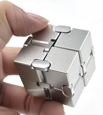 Infinity Cube Aluminum Alloy Metal Present Gift for Kids Adult Xmas 38mm