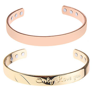 Magnetic Copper Bracelet Healing Therapy Arthritis Pain Relief Bangle Unisex
