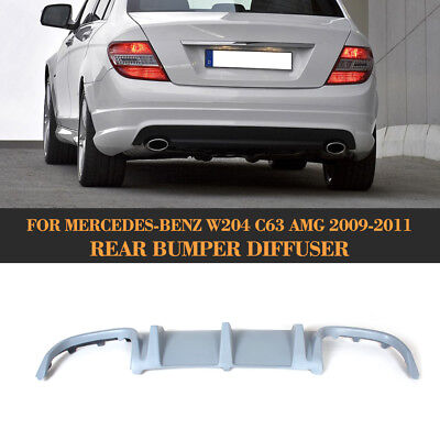 Rear Bumper Lip Diffuser Lower Extension for Mercedes Benz W204 C63 AMG 2008-11