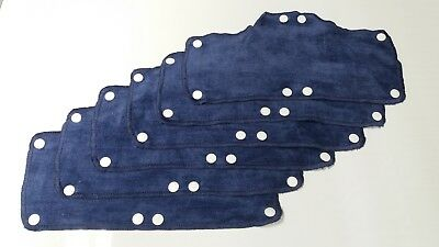 TERRY TOP SNAP ON HARDHAT SWEATBAND Plush Navy Blue 6 PACK