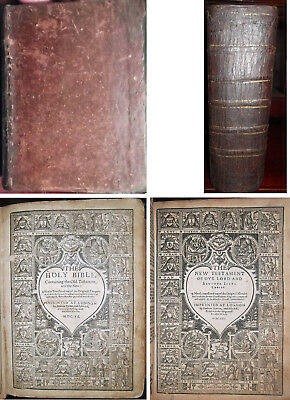 1620/1621 ANTIQUE KING JAMES HOLY BIBLE 1611-1612-1613 Rare Christian Jesus