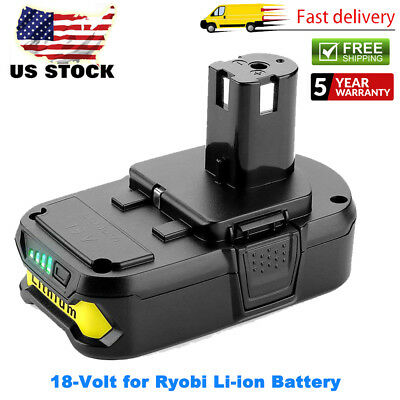 NEW FOR RYOBI P102 18 VOLT LITHIUM ION COMPACT BATTERY PACK 18V 2.0Ah ONE+ P104