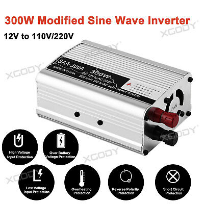 Universal 300W Car Solar Power Inverter DC12V To AC220V USB Camping Converter BY