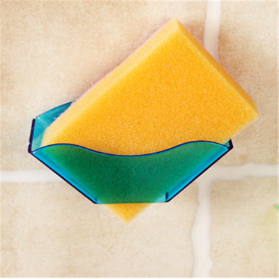 1X Strong Suction Cup Kitchen Bathroom Hanging Sponge Storage Holder Drying Rack