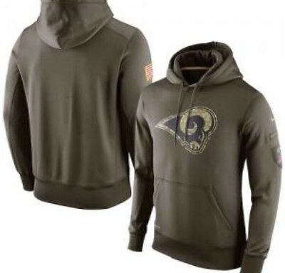 Los Angeles Rams 2018 NFL Salute to Service Camo Pullover Hoodie - Large