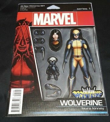 ALL NEW WOLVERINE 1 RARE J T CHRISTOPHER ACTION FIGURE VARIANT NM
