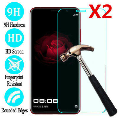 For Huawei P30 20 10 9 Tempered Glass Screen Protector Protective Film 2pcs/Pack
