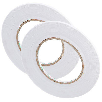 Strong Self Adhesive Clear Double Sided Sticky Tape DIY Craft Wrap 10mm 50M X2