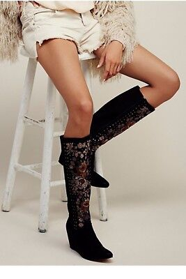 315a1ff7d31b0 Free People Penny Lane Tall Boot Size 7/37 Black Women MSRP: $248 Suede