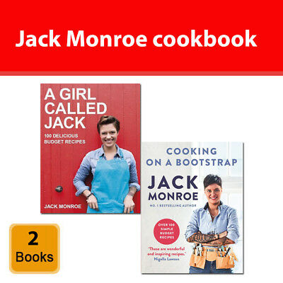 Jack Monroe cookbook 2 books set pack A Girl Called Jack, Cooking on a Bootstrap
