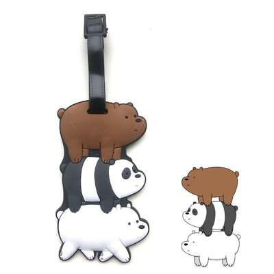 We Bare Bears Travel Luggage Tag Suitcase Cute Bag Address Label ID Baggage