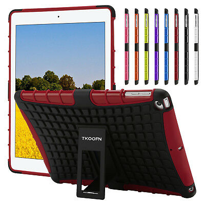 Shockproof Hybrid Rugged Stand Case Cover for 2018 iPad 9.7 6th Gen A1893 A1954