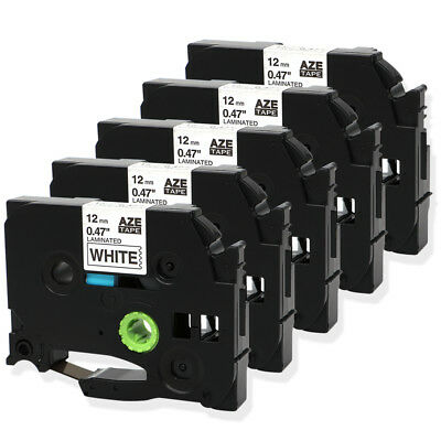 5PK TZ-231 TZe231 Black on White Compatible for Brother  P-Touch Label Tape 12mm