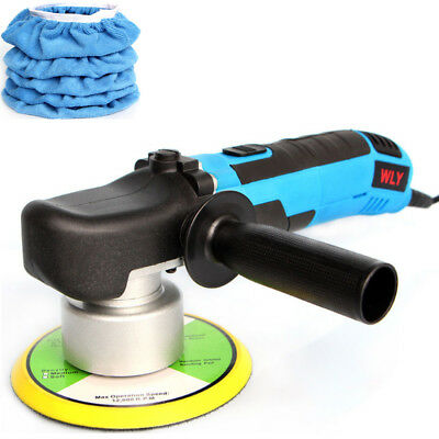 "Electric Car Polisher 6"" Pad Dual Action Orbital Buffer Waxer Sander+5 Bonnets"