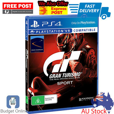 Brand New Sony Playstation 4 PS4 Game Gran Turismo GT Sport Driving Simulator