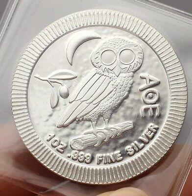 2019 Niue Silver Owl of Athena Stackable - 1oz .999 Fine Solid Silver Art-Round